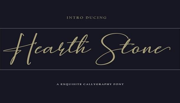 Hearth Stone Font