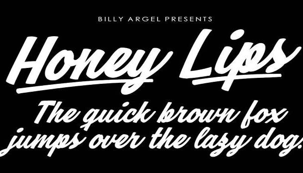 Honey Lips Font