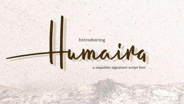 Humaira Script Font