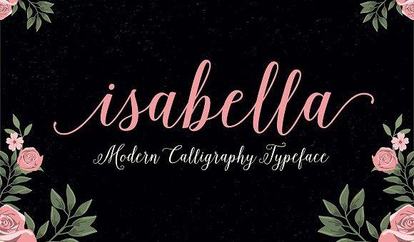 Isabella Script Font