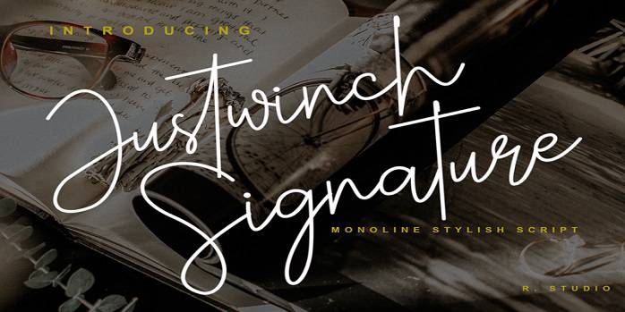 Justwinch Signature Font