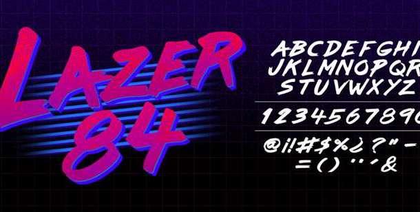 Lazer 84 Font