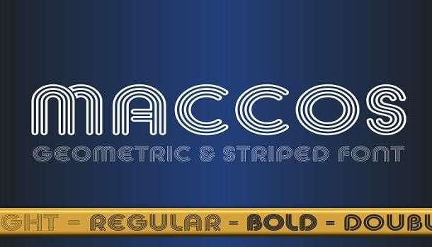 Maccos Font Family