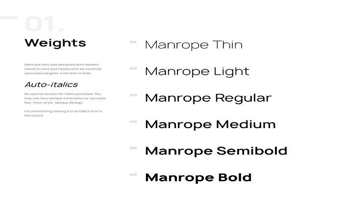 Manrope Font Family-1
