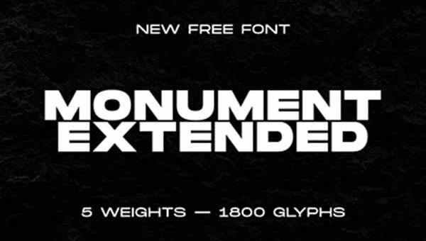 Monument Extended Font