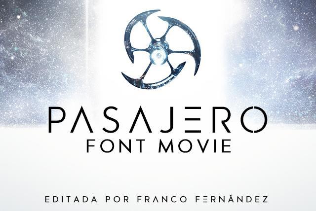 Pasajero Font