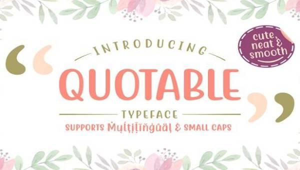 Quotable Font