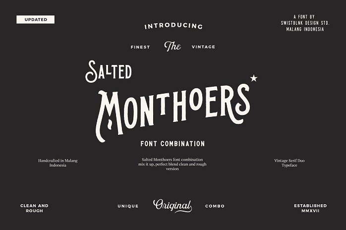 Salted Monthoers Typeface - Dafont Free
