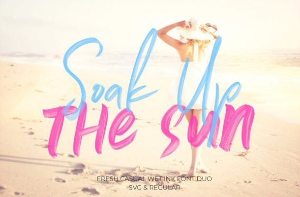 Soak Up The Sun Brush Font