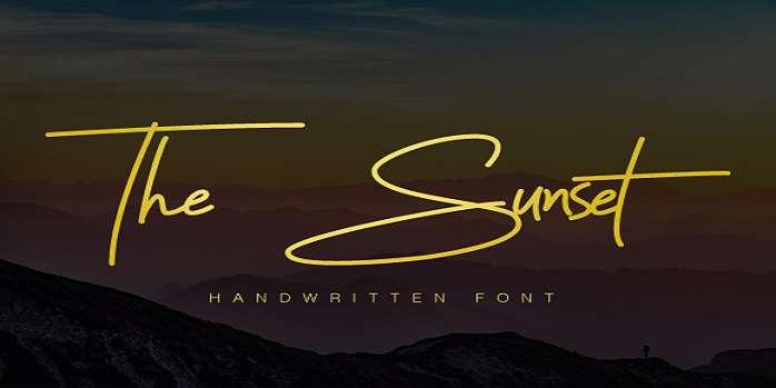 The Sunset Font - Dafont Free