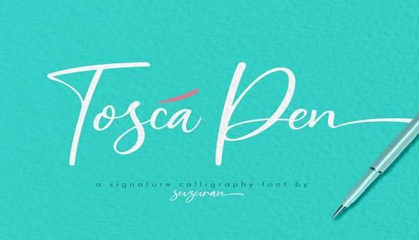Tosca Pen Font