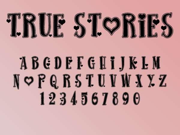 True Stories font