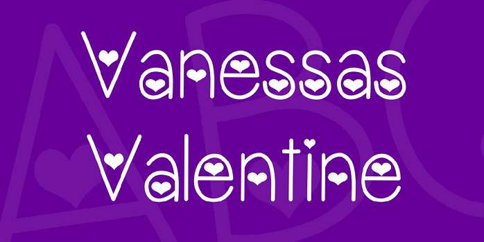 Vanessas Valentine Font