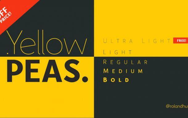 Yellow Peas Font