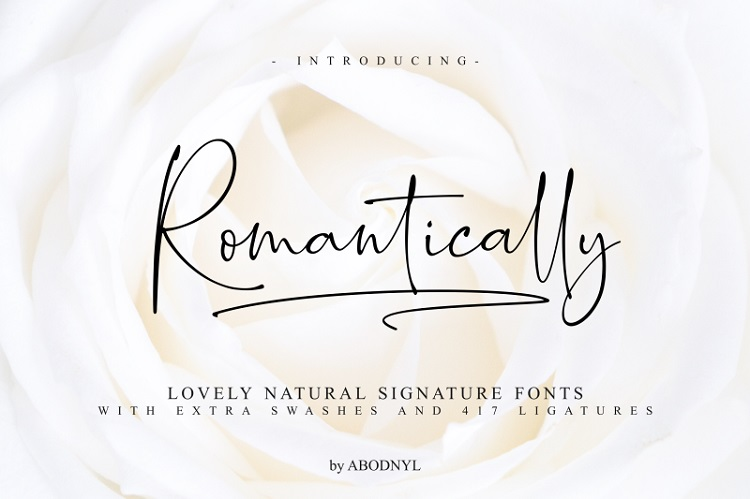 romantically-script-font