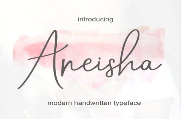 Aneisha Script Font
