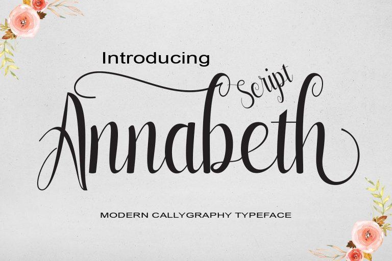 Annabeth Script Font