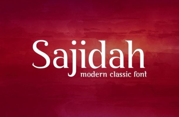 BY Sajidah Modern Classical Font