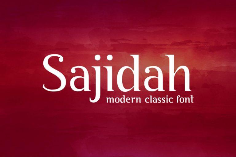 BY Sajidah Modern Classical Font