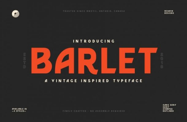 Barlet Typeface