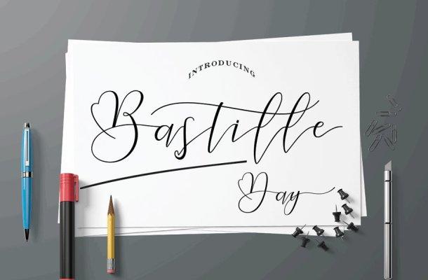 Bastille Day Script Font