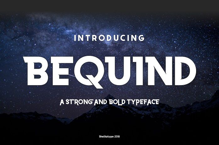 Bequind Dysplay Font