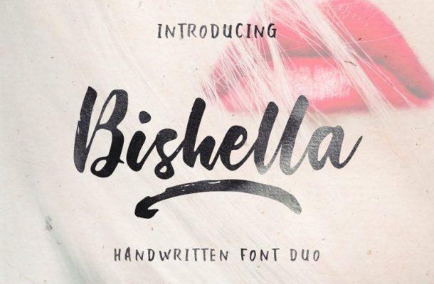 Bishella Brush Font