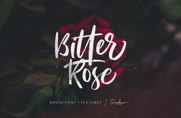 Bitter Rose Brush Font