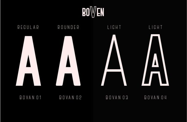 Boven Typeface