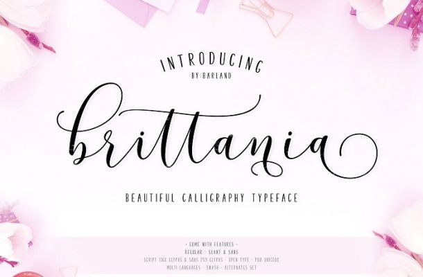 Brittania Script Font
