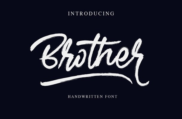 Brother Brush Font