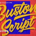 Buston Script Font