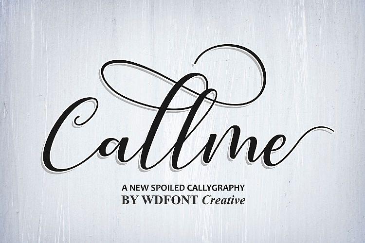 Callme Script Font