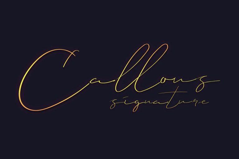 Callous Signature Font