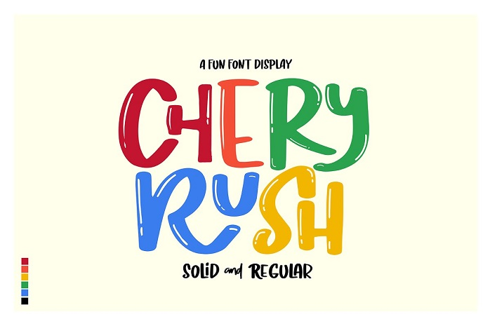 Chery Rush Display Font
