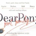 DearPony Serif Font Family