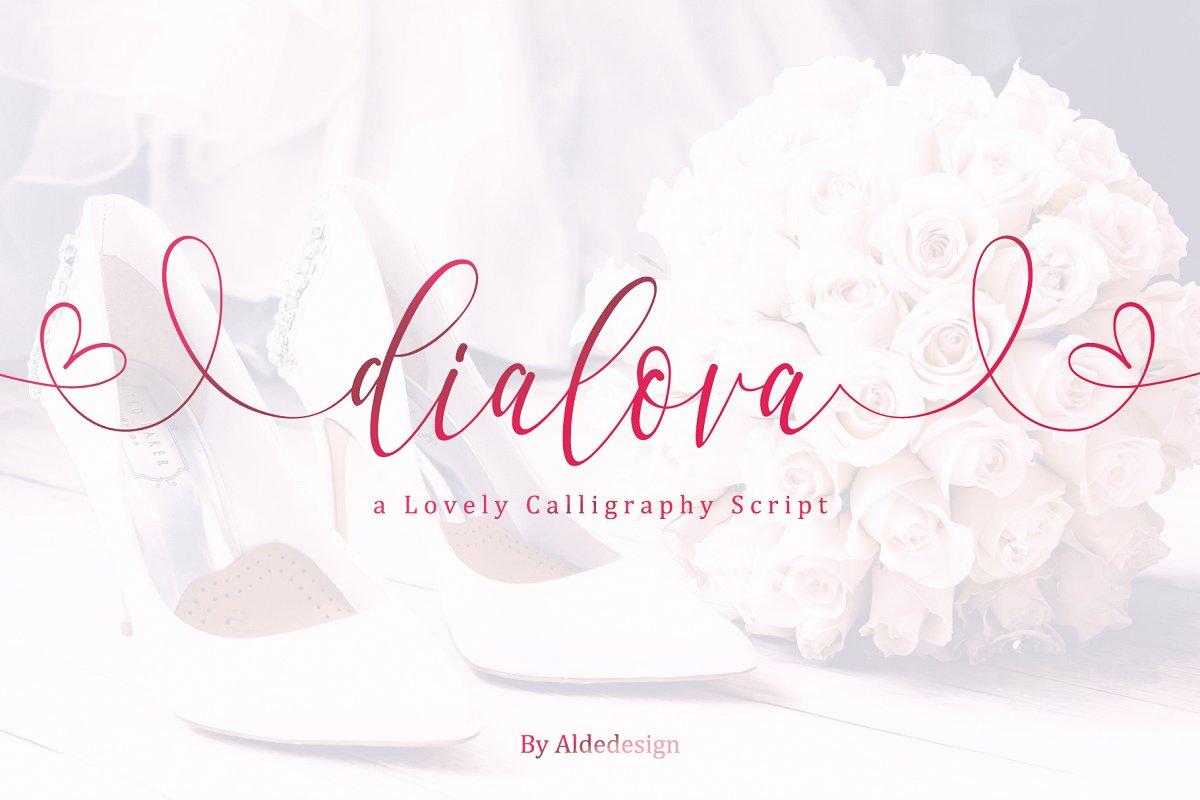 Dialova Script Font