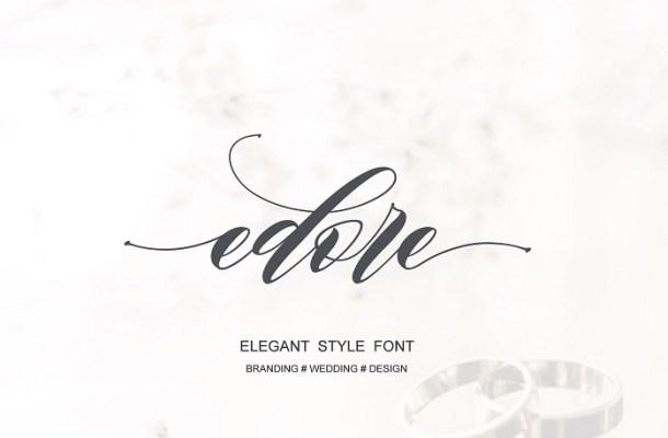 Edore Script Font