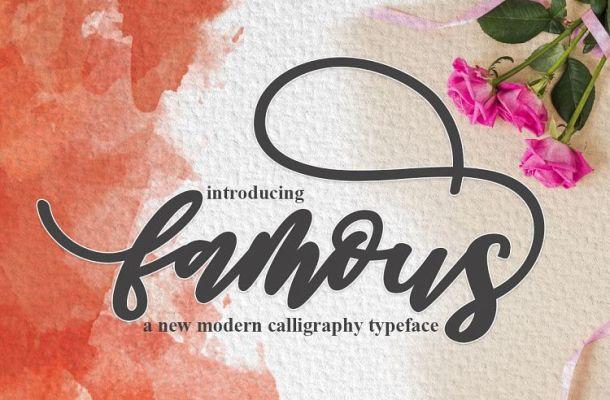 Famous Script Font