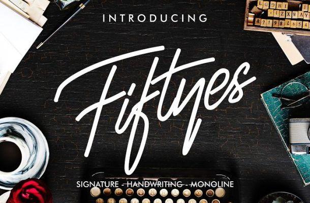 Fiftyes Signature Font