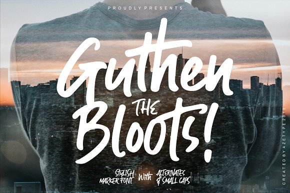 Guthen Bloots Brush Font
