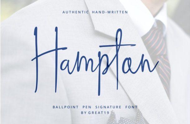 Hampton Handwriting Font