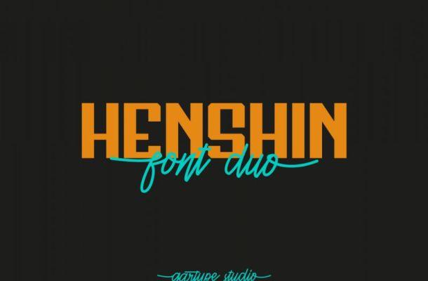 Henshin Script Font