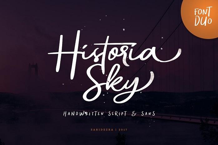 Historia Sky Script Font