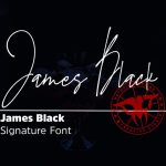 James Black Signature Font