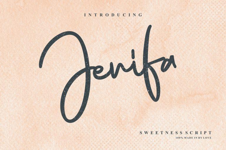 Jenifa Script Font