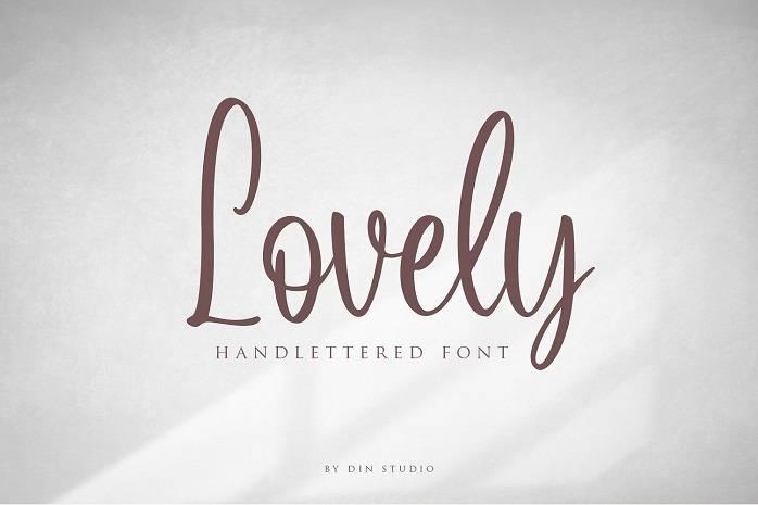 Lovely Script Font