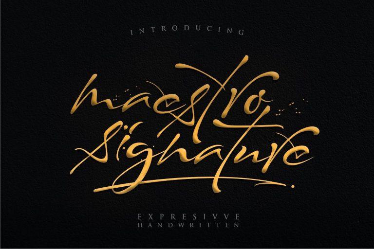 Maestro Signature Font