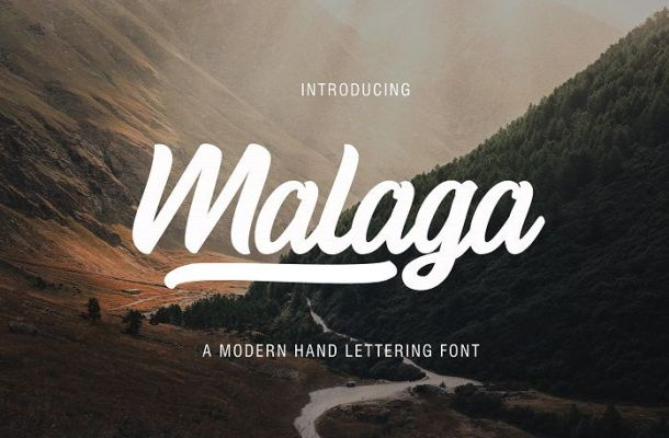 Malaga Script Font