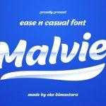 Malvie Bold Script Font